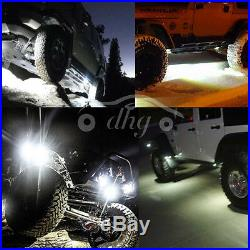 16X Bright White 9W CREE LED Rock JEEP ATV 4x4 Off-Road Truck Trail Fender Light