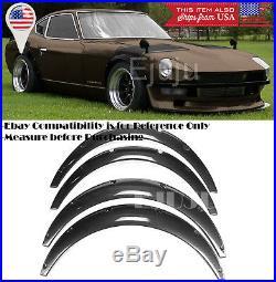 1.75 F 2.75 R Carbon Effect Flexible 4 Pcs Wide Fender Flares For VW Porsche