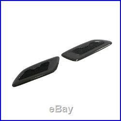 2PCS Carbon Car Auto Decorative Air Flow Intake Hood Vent Bonnet Cover Universal