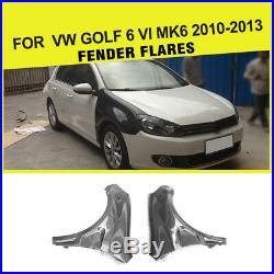 2PCS Carbon Fiber Car Fender Flares Body kits For Volkswagen VW Golf 6 MK6 10-13