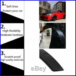 2/50mm Universal Car Fender Flares Flexible Wheel Mudguards Sticker Black 4Pcs
