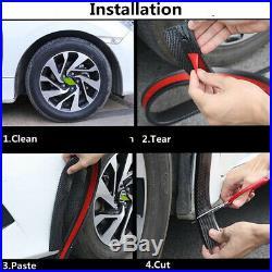2.5 Wide Car Wheel Fender Flares Strip Rubber Trim Protector Universal 2x 59