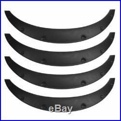 2.75/70mm Universal Car Fender Flares Arch Wheel Mudguards Sticker Black 4Pcs