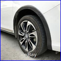 2 Car Body Fender Flares Wheel Eyebrow Trim Flexible Durable Carbon Fiber Color