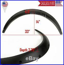 2 Pcs 2.75 Wide ABS Black Carbon Effect Fender Flare Extension For VW Porsche