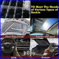 350Pcs Car Body Plastic Push Pin Rivet Fasteners Panel Trim Moulding Clip Tool