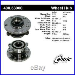 400.33000 Centric Wheel Hub Front or Rear Driver Passenger Side New for VW RH LH