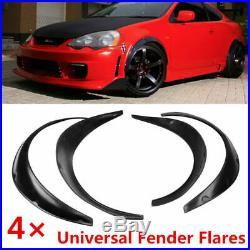 4PCS Car Black Exterior Fender Flares Polyurethane Universal Kits Handy