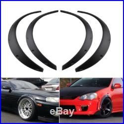 4Pcs 3.5/85mm Universal Flexible Car Fender Flares Extra Wide Body Wheel Arches