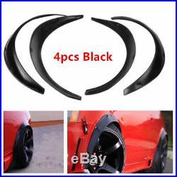 4Pcs Car Automobile Exterior Fender Flares Black Durable Flexible Polyurethane