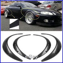 4Pcs Car Carbon Fiber Look Body Fender Flares Durable Polyurethane Universal