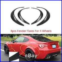 4Pcs Carbon Fiber Style Car SUV Fenders Flares Flexible Yet Durable Polyurethane