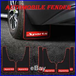 4Pcs Rubber Car Sports Mud Flaps Mudguards Front Rear Fender Splash Guard Parts