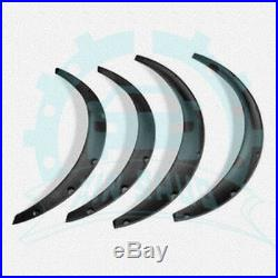 4Pcs Universal PP Front/Rear Fender Wheel Arch Flare Kits Racing Parts