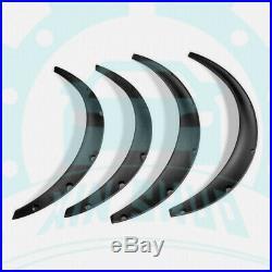 4Pcs Universal PP Front & Rear Fender Wheel Arch Flare Kits Racing Parts JBc