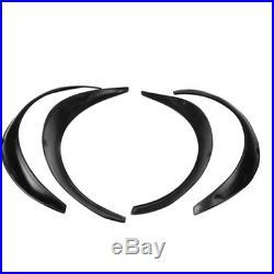 4×Black Universal Fender Flares Flexible Durable Polyurethane Body Fenders Kits