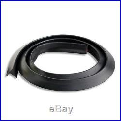 4pcs 1.5m Black Car Wheel Fender Extension Moulding Flares Trim Strip Edge SUV