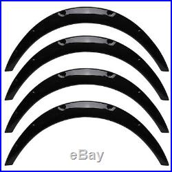 4x 2inch Car Body Fender Flares Extension Over Wide Wheel Arches Kit Gloss Black