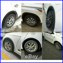 4x Car Rubber Wheel Arch Protection Moldings Mudguard Door Trim DIY 1.5m3.8cm