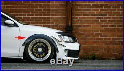 4x Carbon Fiber Car Fender Flares Arch Wheel Eyebrow Bodykit Stickers Mudguards