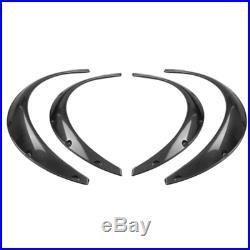 4x Carbon Fiber Car Fender Flares Arch Wheel Eyebrow Protector/mudguards Sticker