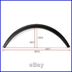 4x Universal Carbon fiber Car Body Fender Flares Flexible Durable Polyurethane L