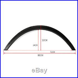 4x Universal Carbon fiber Car Body Fender Flares Flexible Durable Polyurethane M