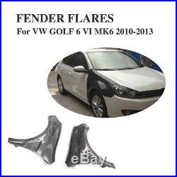 Auto Door Fenders Side Blade Skirts Carbon Fiber For Volkswagen VW Golf 6 MK6