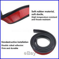Black Rubber Car Wheel Fender Flares Strip Guard Extension 2.5Wide Universal 2x