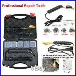 Car Bumper Fender Hot Stapler Plastic Repair Kit Smoothing Iron Welding Machine