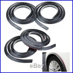 Car Rubbing Strip Wheel Eyebrow Trim Strip Protective Strips 150cm Carbon Fiber