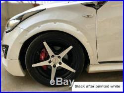 Carbon Fiber /PU Car Fender Flares Arch Wheel Eyebrow Stickers Bodykit Mudguard