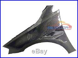 Carbon Fiber Side Fender Mudguards Trim 1pair For VW Golf MK7 14UP v077