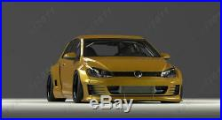 FRP PD RB Body Kit Fit For 2015-2017 Golf MK7 GTI Lip Fender Roof Wing