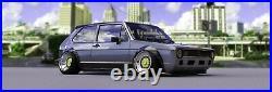 Fender flares for Volkswagen Golf Mk1 Mk2 wide body kit JDM 3.590mm 4pcs set KL