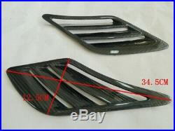 Fit for UNIVERSAL CARBON FIBER FRONT FENDER SIDE AIR INTAKE VENTS SCOOPS