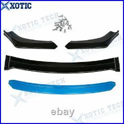 For VW Golf MK5 MK6 MK7 MK7.5 R Blue Front Bumper Spoiler Splitter Diffuser Lip