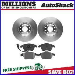 Front Disc Brake Rotors & Semi Metallic Pads Kit for VW Jetta Golf Rabbit Beetle