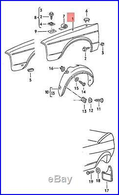 Genuine Volkswagen Wing Right NOS VW Golf Cabriolet Rabbit Cabrio 155821022E