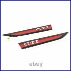 Golf 8 GTI Badges Emblems Fender Side Logo Red Black Genuine New
