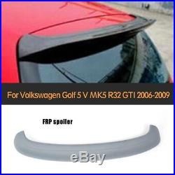Grey FRP Rear Roof Spoiler Lip Wing for Volkswagen VW Golf 5 V MK5 R32 GTI 06-09