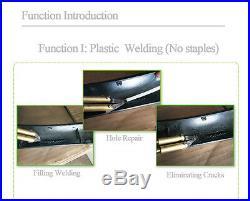 Hot Stapler Car Bumper Fender Fairing Welder Gun Staples Plastic Repair Kit 220V