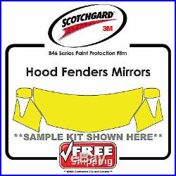 Kits for VW 3M 846 Scotchgard Paint Protection Film Hood Fender Tips Mirror