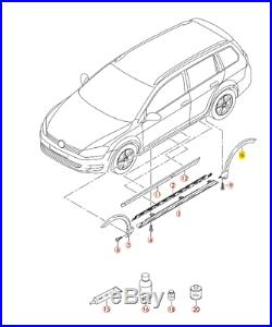 Neu Original VW Golf Alltrack 14-18 Hinten LINKS Fender Radlauf Abdeckung OEM