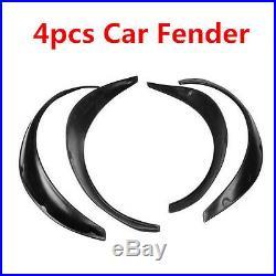 New Arrival Car 4PCS Black Polyurethane Flexible Exterior Fender Flares