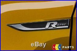 New Genuine Volkswagen Golf VII Mk7 Facelift R Line Fender Emblem Set