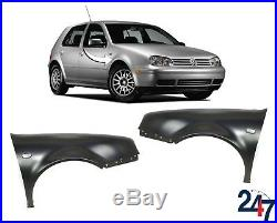 New Volkswagen Vw Golf IV 1997-2003 Primed Front Wing Fender Pair Set