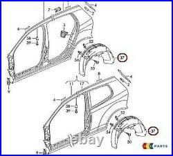 Original VW Golf Gti R32 04-09 Rueda Trasera Arco FENDER Guardabarros Derecho