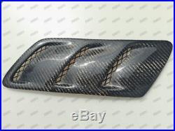 Pair of 25CM7CM Universal Carbon Fiber Fender Hood Bonnet Scoops Vents Type 12