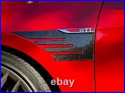 Real Carbon Fiber front fender air vent scoop Trim Fit Volkswagen Golf GTI mk7